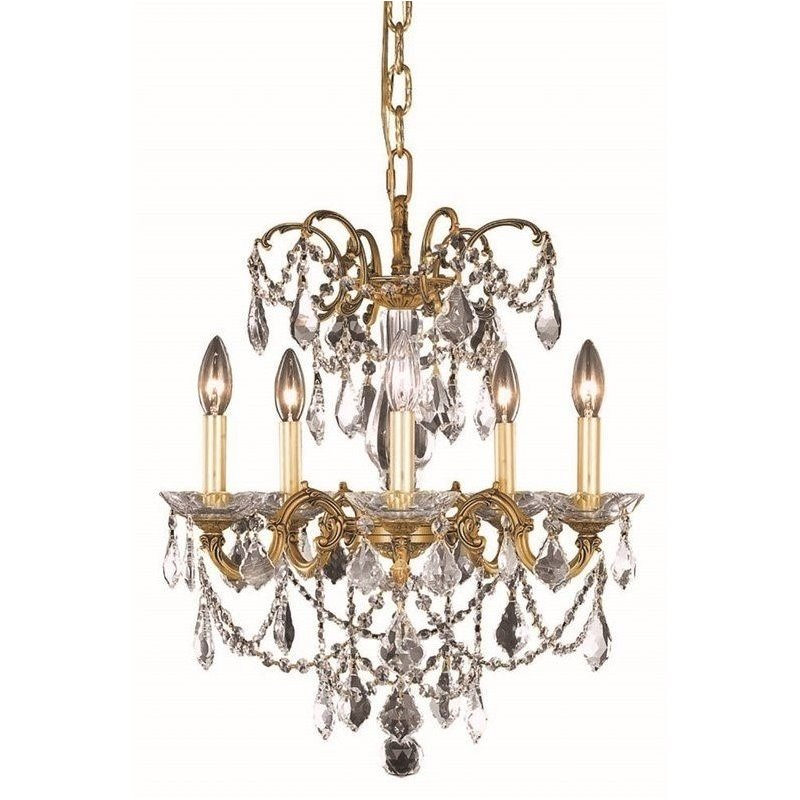 "Elegant Lighting Athena 18"" 5 Light Spectra Crystal"