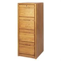 Martin Furniture Cont 4-Drawer Vertical File Medium Oak ...