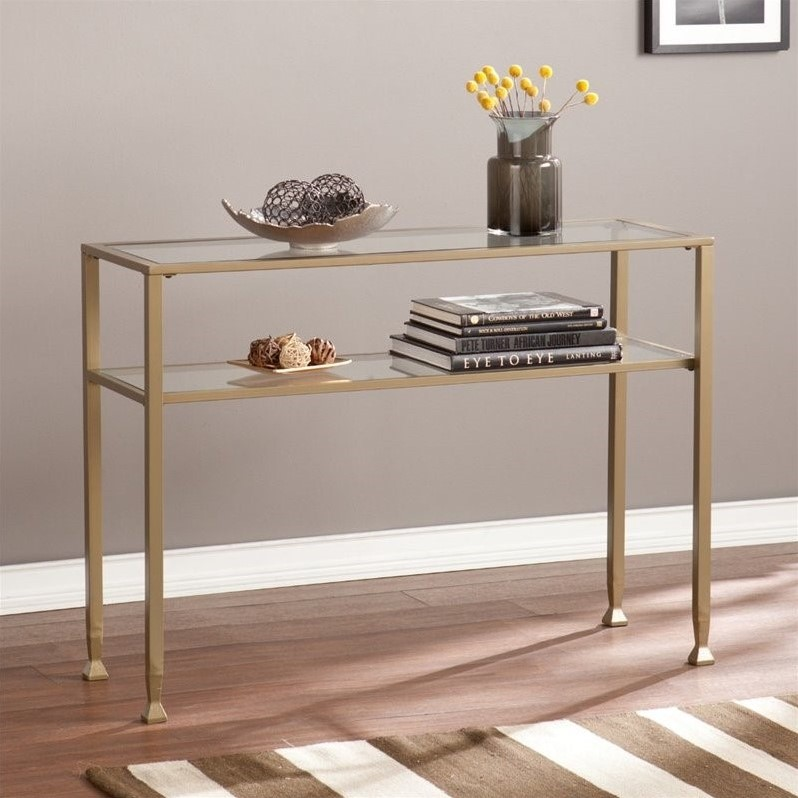 By 46 Couchtisch Southern Enterprises Metal-glass Console Table In Matte