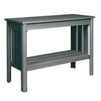 CR Plastic Stratford Patio Console Table in Slate Gray ...