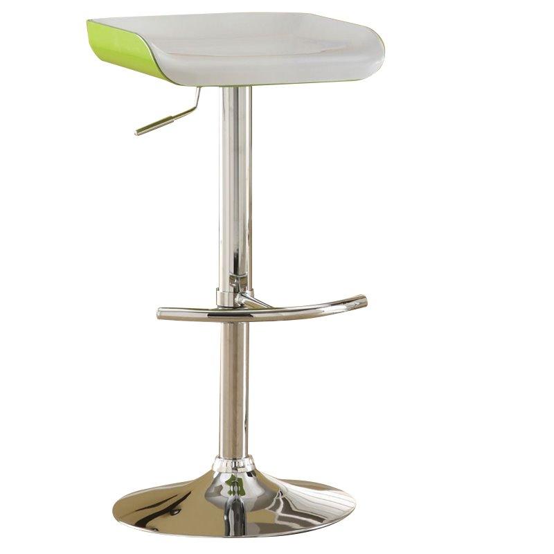 Furniture of America Menchilli Swivel Bar Stool in Gray