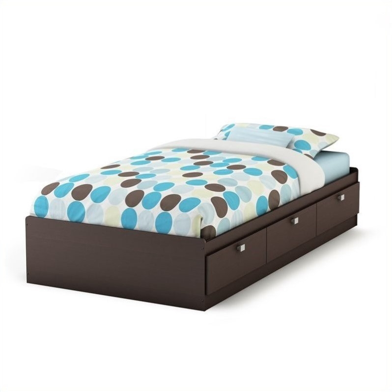 Twin Bed Frame With Storage South Shore Cakao Kids Twin Storage Mates Frame Only
