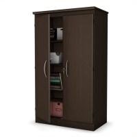 South Shore Park 2 Door Storage Cabinet in Chocolate ...
