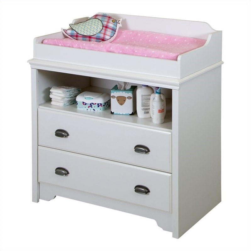 Baby Wickeltisch South Shore Fundy Tide Pure White Baby Changing Table | Ebay