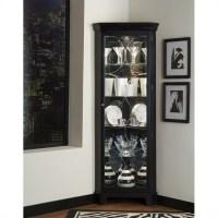 Oxford Black Corner Curio Cabinet - 21220