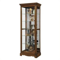 Pulaski Curio Mirrored Display Cabinet in Brown