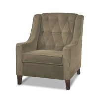 Cruves Tufted Back Accent Chair in Beige - CVS51-C27