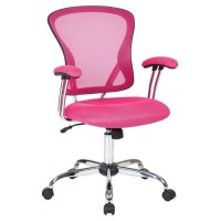 Mesh Back Office Chair in Pink - JUL26-261