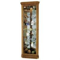 Howard Miller Legacy Oak Dominic Corner Curio Cabinet ...