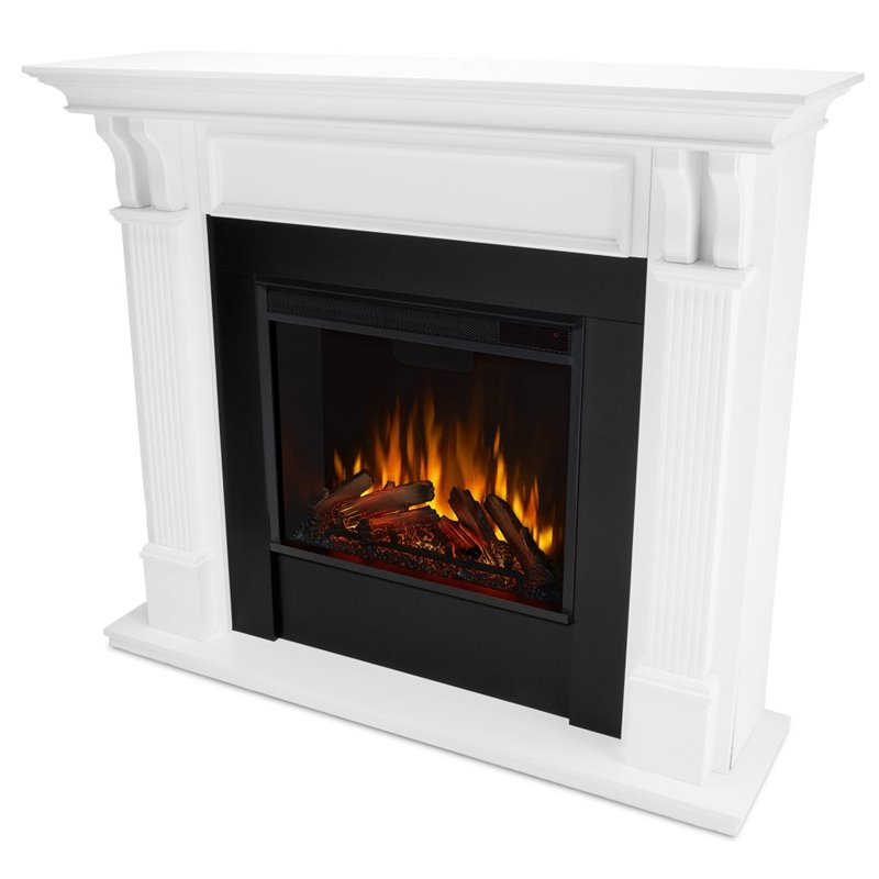 Deals On Sofas And Loveseats Real Flame Ashley Electric Fireplace In White Finish - 7100e-w