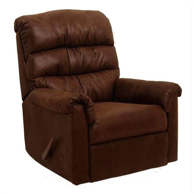 Catnapper Capri Fabric Rocker Recliner Chair In Chocolate
