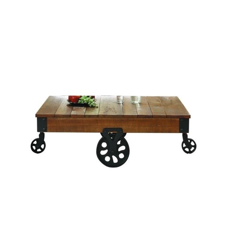 Trent Home Factory Coffee Table Cart Metal Wrought Iron
