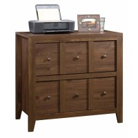 Sauder Dakota Pass 2 Drawer File Cabinet TV Stand in Rum ...