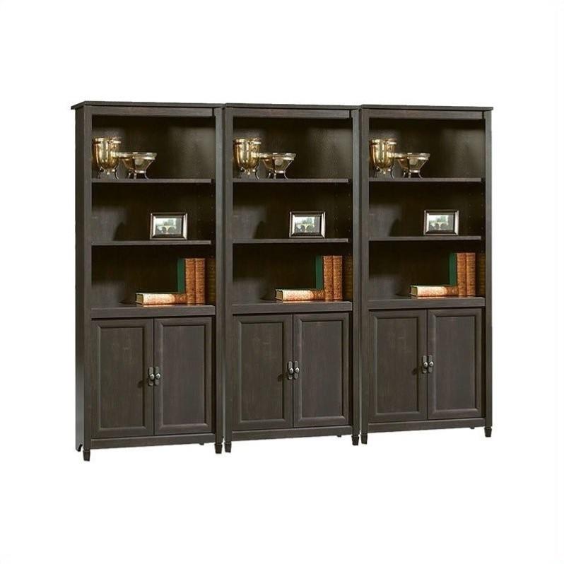 Library Wall Bookcase In Estate Black 409046 Pkg