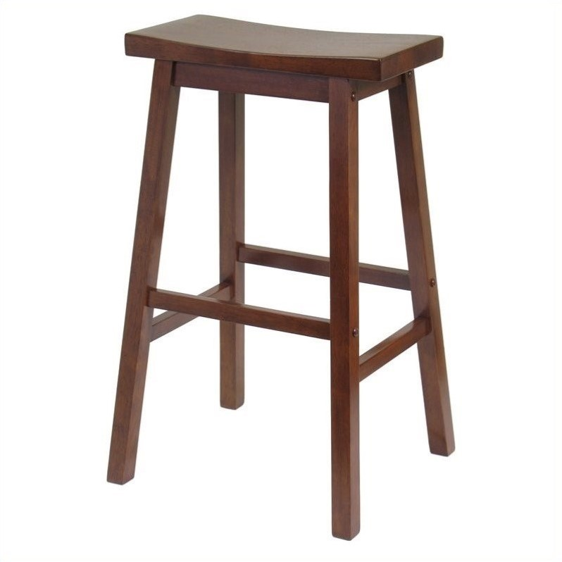 "Saddle Bar Stools 29"" Saddle Bar Stool In Antique Walnut - 94089"