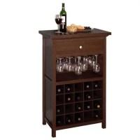 20 Bottle Wine Cabinet in Antique Walnut - 94441