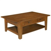 Broyhill Attic Heirlooms Rectangular Cocktail Table in Oak ...