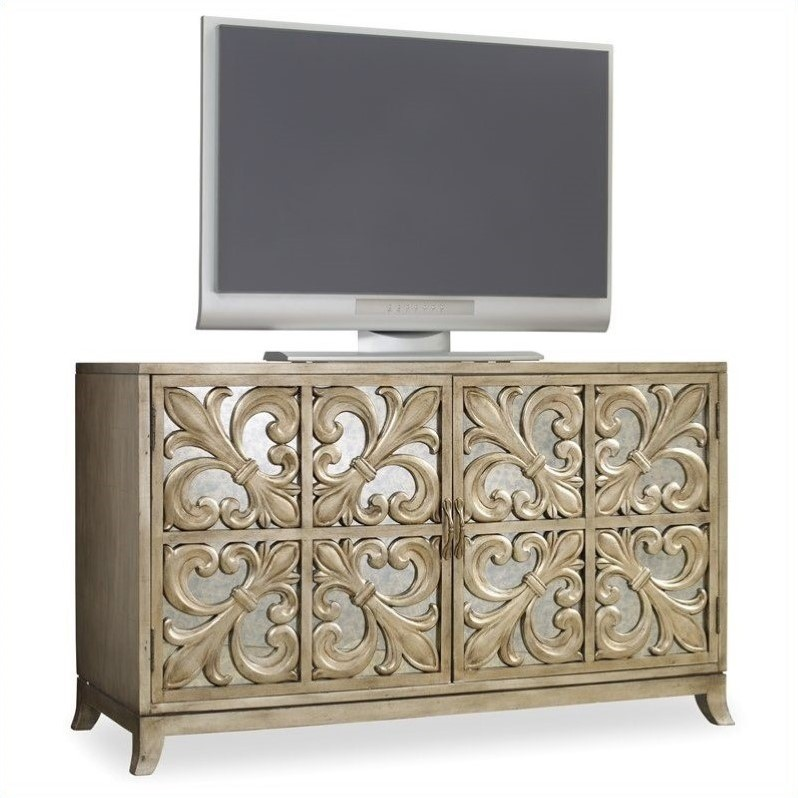 Flur Sideboard Hooker Furniture Melange Metallic Fleur-de-lis Mirrored