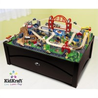 KidKraft Metropolis Table and Train Set - 17935