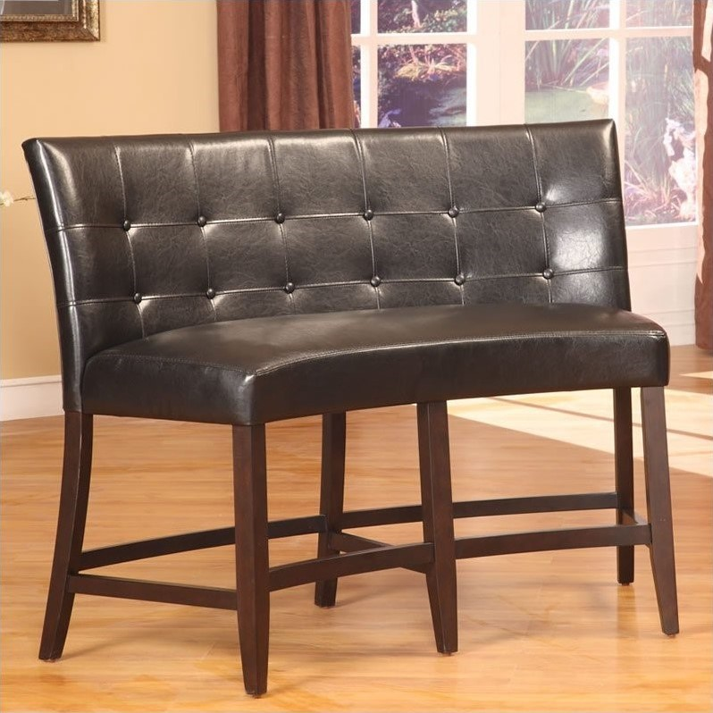 Deals On Sofas And Loveseats Modus Bossa Counter Height Banquette In Black Leatherette