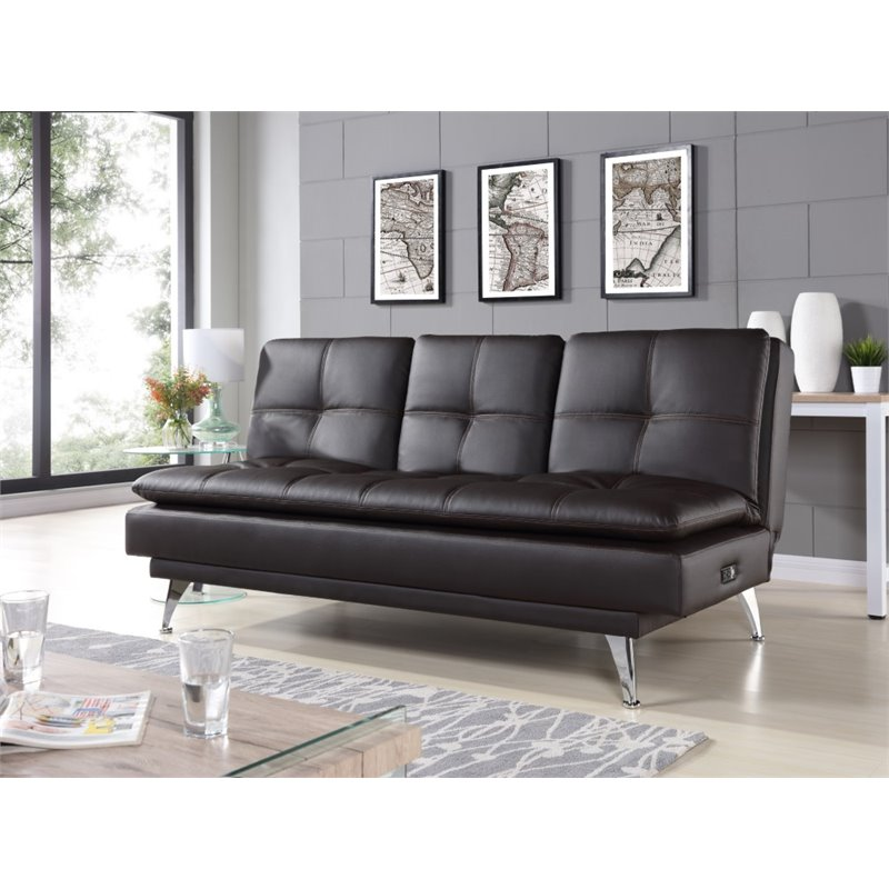 Relax Couch Relax-a-lounger Imperial Sleeper Sofa In Black - Ra