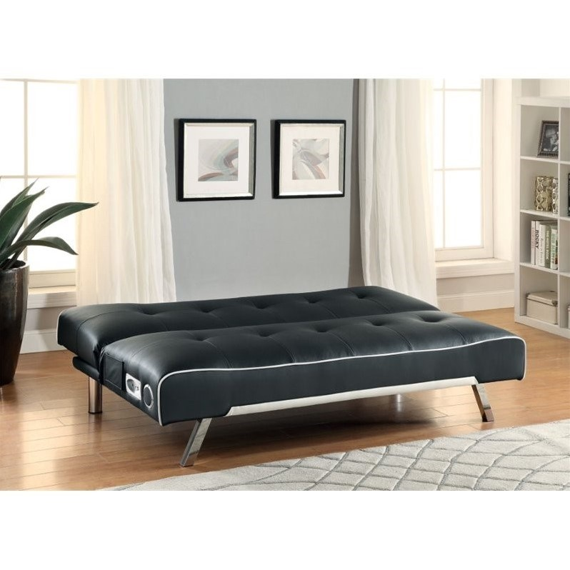 Coaster Sleeper Sofa With Built In Bluetooth Speakers In - Bluetooth Couch