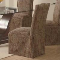 Coaster Slauson Upholstered Parson Dining Chair Skirt in ...