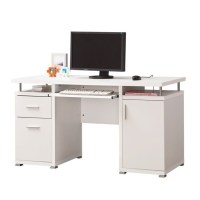 Coaster Computer Desk in White - 800108