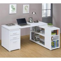 Coaster Yvette L Shaped Computer Desk in White - 800516ii