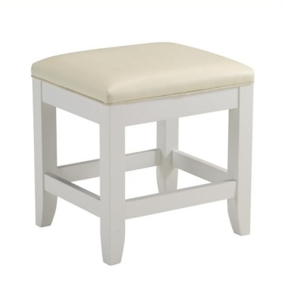 Home Styles Naples Bench White Finish Vanity Benche | eBay
