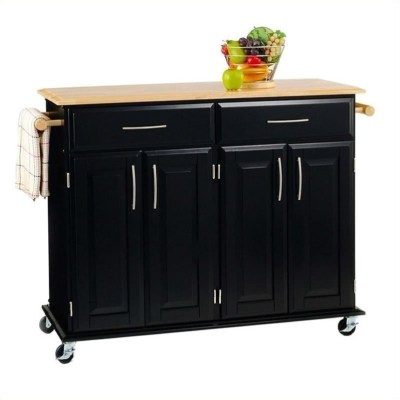 Home Styles Furniture Madison Black Kitchen Cart   eBay