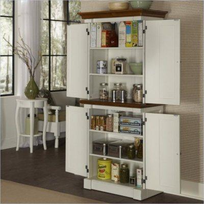 Home Styles Monarch White & Oak Pantry | eBay