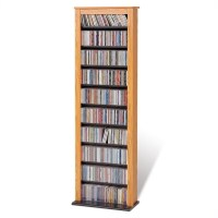 Prepac 4sided Spinning Cd Dvd Media Storage Tower In Black