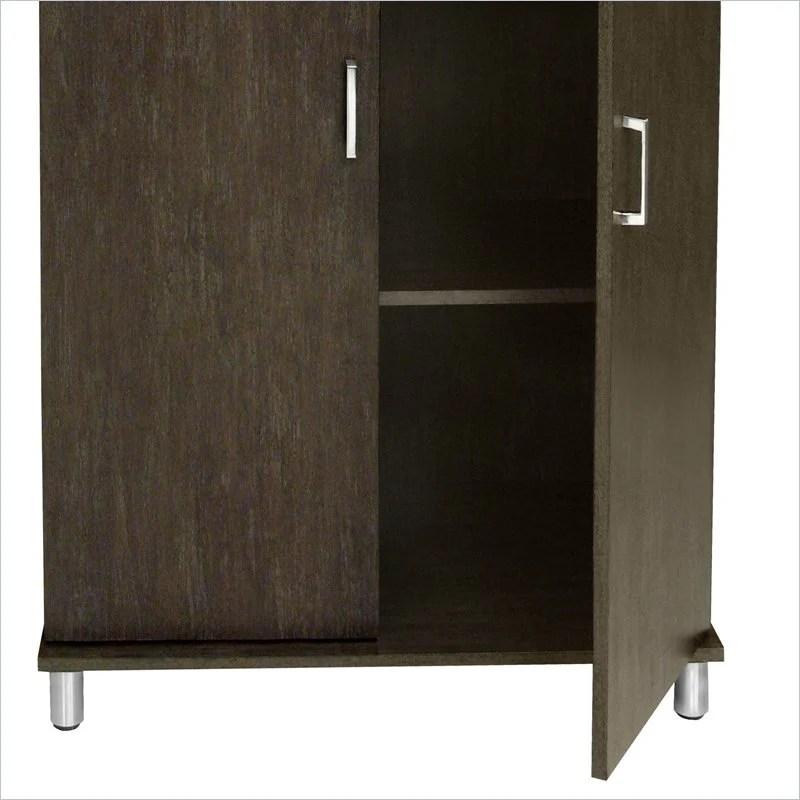 Ameriwood w/Two Fabric Bins Black Storage Cabinet