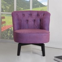 Gold Sparrow Raleigh Fabric Swivel Chair in Purple Modern ...