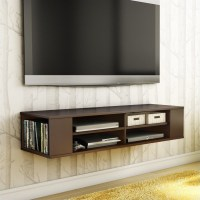 City Life Wall Mounted Media Console in Chocolate - 4419675