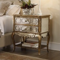 Hooker Furniture Sanctuary Mirrored Leg Bling Nightstand ...