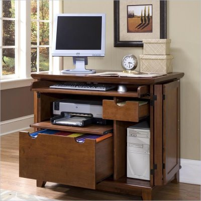 Home Styles Arts & Crafts Compact Cabinet Cottage Oak ...