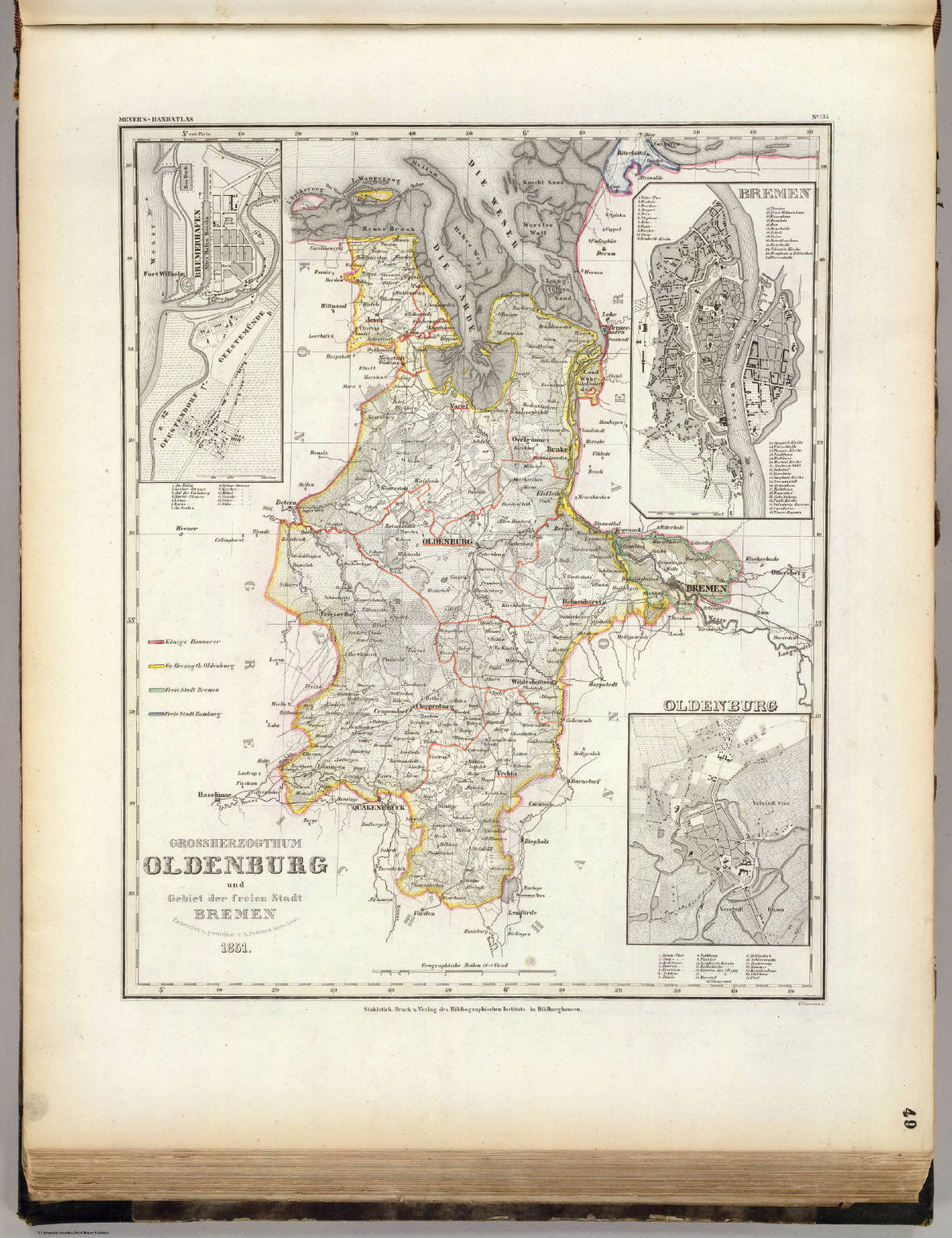 Maps Oldenburg Oldenburg Grossherzogthum David Rumsey Historical Map Collection