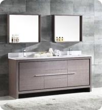 "Fresca FVN8172GO Allier 72"" Double Sink Modern Bathroom ..."