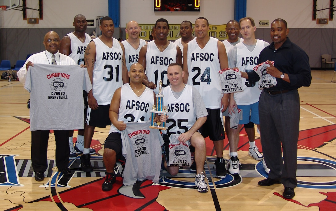 Headquarters Afsoc Over 30 Basketball Team Wins 4th
