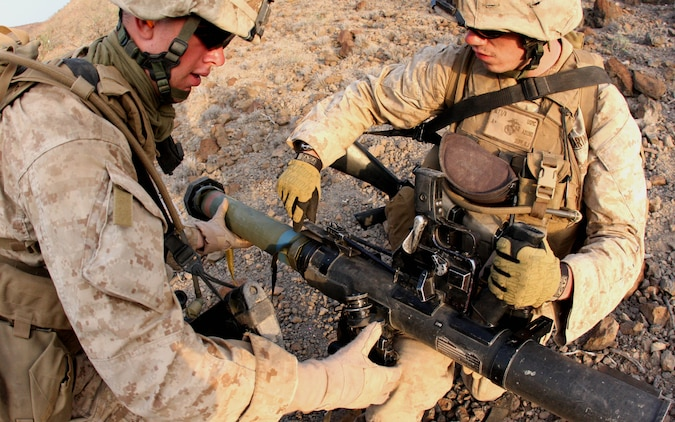 Rocket range tests skills, develops leadership for assaultmen in - marines infantry assaultman
