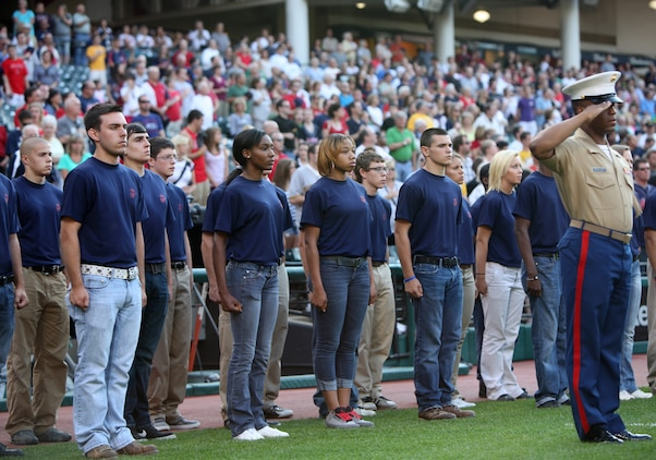 Greater Cleveland area poolees take oath of enlistment