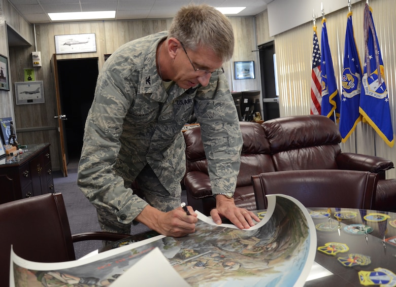 Air Force Rescuer autographs books, posters for role in upcoming