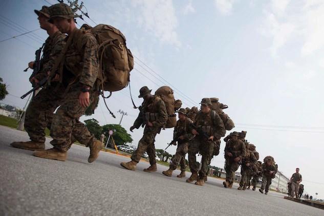 Marines sweat through scout sniper screener \u003e 31st Marine