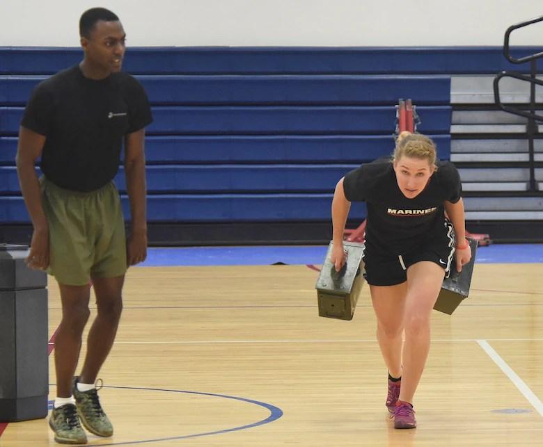 Female US Marine Corps poolees endure DEP workout \u003e Buckley Air
