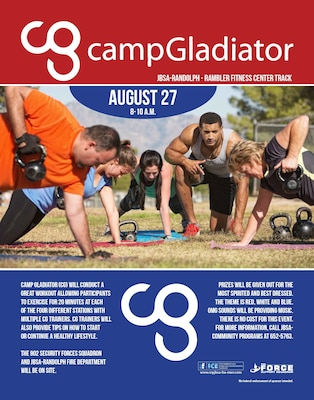 Camp Gladiator event Get ready to sweat, Randolph! \u003e Joint Base San