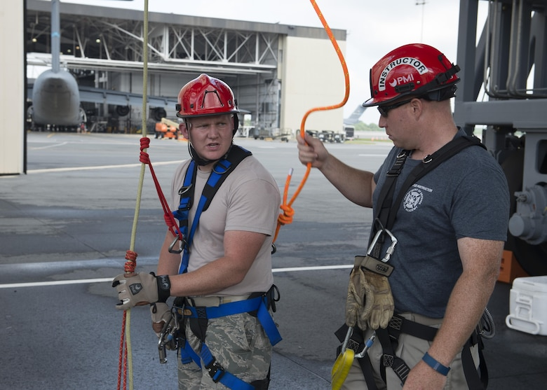 Fire Department training climbs to new heights \u003e 18th Air Force