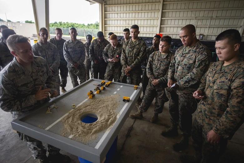Filling the gap Airmen, Marines and Sailors practice fixing damaged