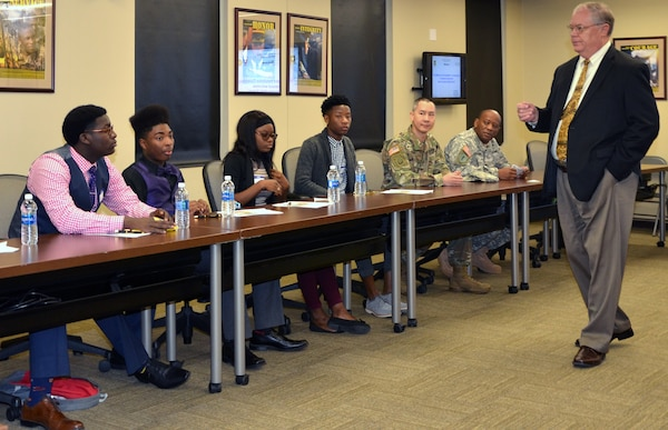 MICC Soldiers, civilians mentor high school students during Job